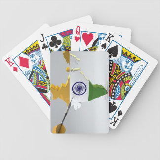 Digital Composite of India Bicycle Playing Cards