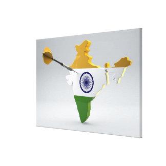 Digital Composite of India Canvas Print