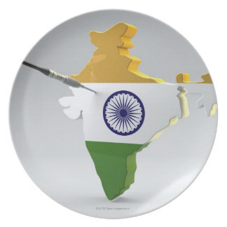 Digital Composite of India Plate