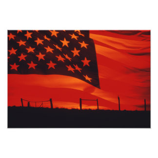 Digital composite of the American Flag Photo Print