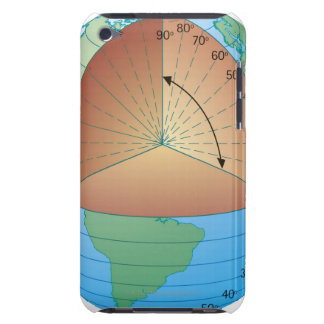 Digital cross section illustration of showing barely there iPod cases