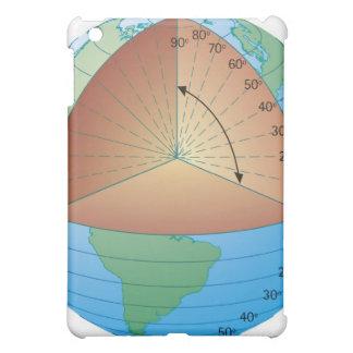 Digital cross section illustration of showing iPad mini case