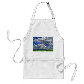 Digital Cross Stitch - Clouds and Field Standard Apron