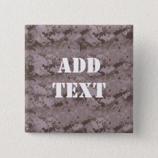 Digital Desert Camouflage 15 Cm Square Badge