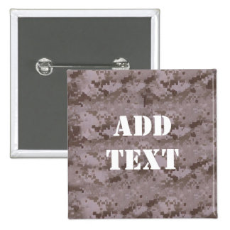 Digital Desert Camouflage 15 Cm Square Badge