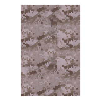 Digital Desert Camouflage Custom Stationery