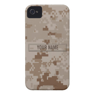 Digital Desert Camouflage Customizable iPhone 4 Case