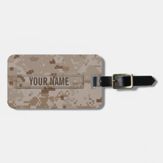 Digital Desert Camouflage Customizable Luggage Tag