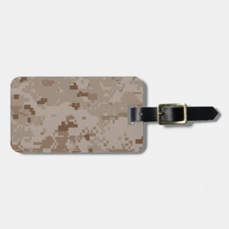 Digital Desert Camouflage Luggage Tag