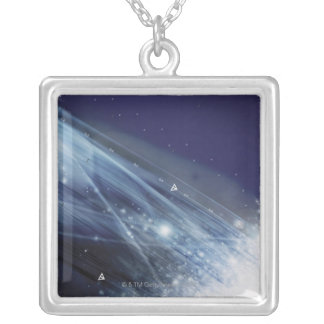 Digital Design Silver Plated Necklace