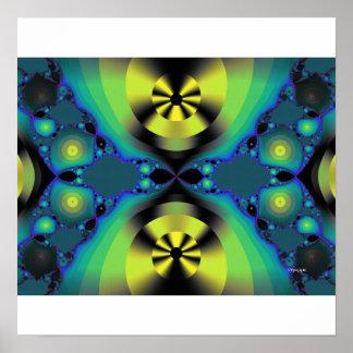 digital discs fractal poster
