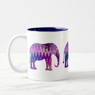 Digital Elephant Two-Tone Coffee Mug