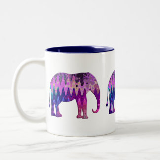 Digital Elephant Two-Tone Mug