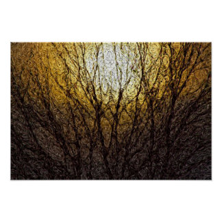 Digital Expressionism: Sunlight in Branches [S] Poster