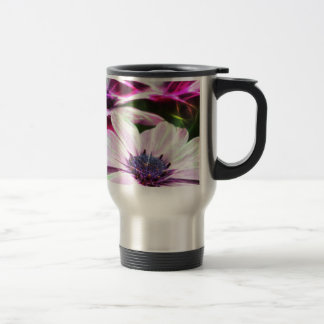 Digital Field of Pink and Purple Flowers Travel Mug