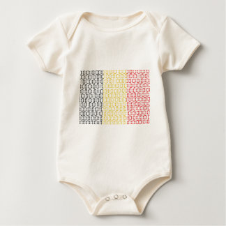 digital Flag (Belgium) Baby Bodysuit