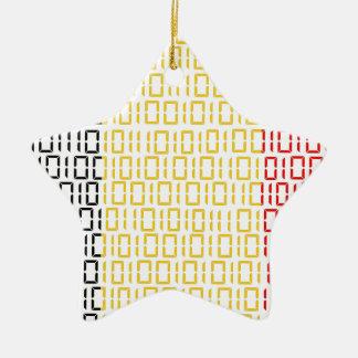 digital Flag (Belgium) Christmas Ornament
