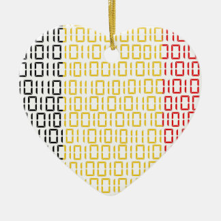 digital Flag Belgium Christmas Ornaments