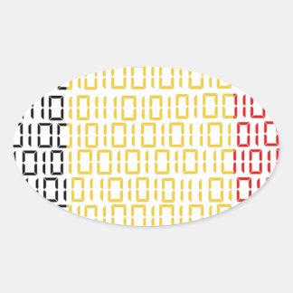 digital Flag (Belgium) Oval Sticker