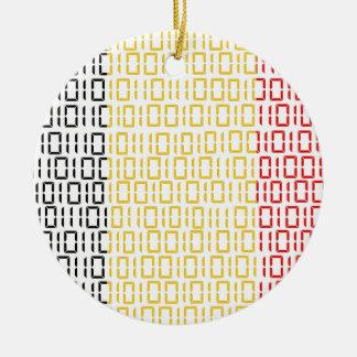 digital Flag (Belgium) Round Ceramic Decoration