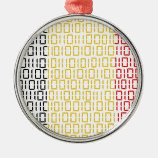 digital Flag (Belgium) Silver-Colored Round Decoration