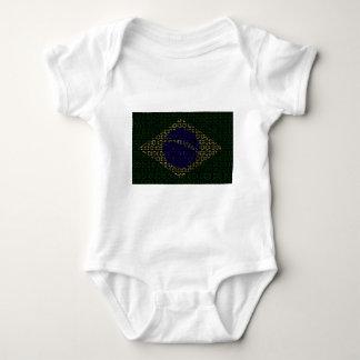 digital Flag (Brazil) Baby Bodysuit