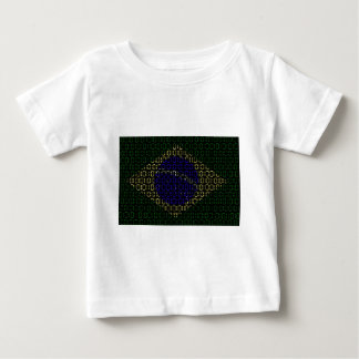 digital Flag (Brazil) Baby T-Shirt