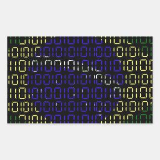digital Flag (Brazil) Rectangular Sticker