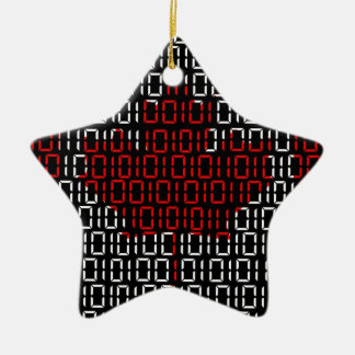 digital Flag (Canada) Ceramic Star Decoration