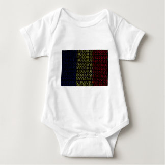 digital Flag (Chad) Baby Bodysuit