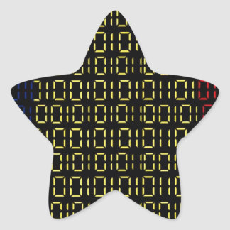 digital Flag (Chad) Star Sticker