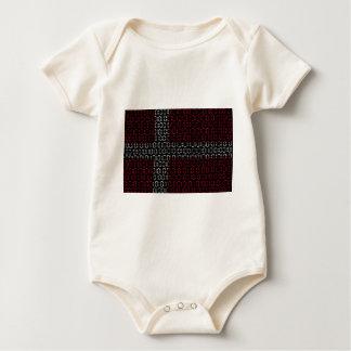 digital Flag (denmark) Baby Bodysuit