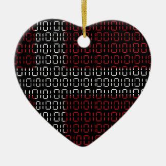 digital Flag (denmark) Christmas Ornament