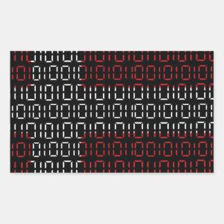 digital Flag (denmark) Rectangular Sticker