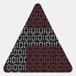 digital Flag (denmark) Triangle Sticker