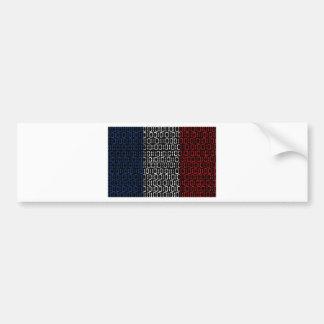 digital Flag france Bumper Sticker