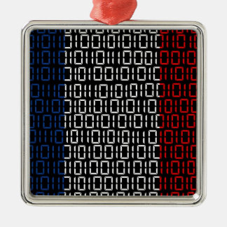 digital Flag france Christmas Ornament