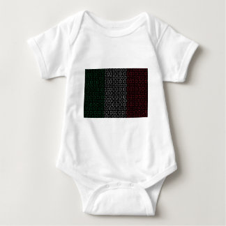 digital Flag  italy Baby Bodysuit