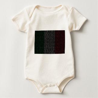 digital Flag  italy Baby Bodysuit