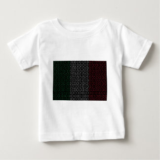 digital Flag  italy Baby T-Shirt