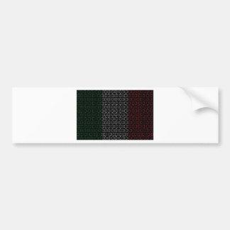 digital Flag  italy Bumper Sticker