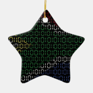digital Flag South Africa Christmas Ornament