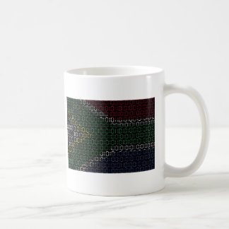 digital Flag South Africa Coffee Mug