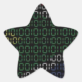 digital Flag South Africa Star Sticker