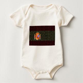 digital Flag (spain) Baby Bodysuit