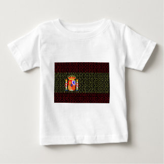 digital Flag (spain) Baby T-Shirt