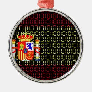 digital Flag (spain) Christmas Ornament