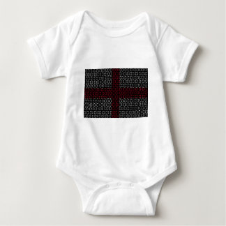 digital Flag (St George's Cross) Baby Bodysuit