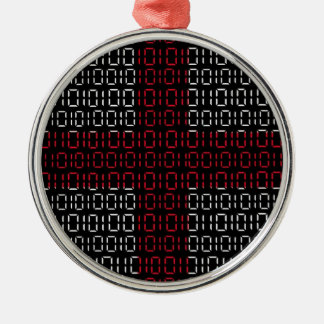 digital Flag (St George's Cross) Christmas Ornament