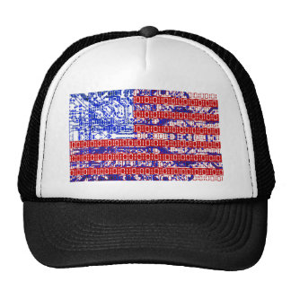 digital Flag (USA) & circuit board. Hat